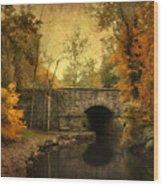 Bridge To Autumn Wood Print