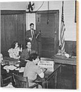 Bridges Deportation Hearing Wood Print