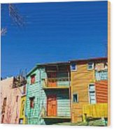 Bright Colors In Buenos Aires Wood Print