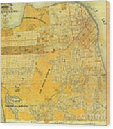 Britton And Reys Guide Map Of The City Of San Francisco. 1887. Wood Print