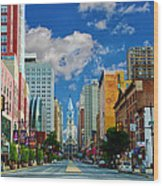 Broad Street - Avenue Of The Arts Wood Print