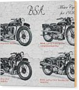 Bsa Motor Cycles For 1936 Wood Print