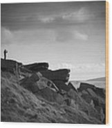 Buckstone Edge Wood Print
