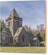 Building Church Southwick Parish Church Dumfries And Galloway Wood Print
