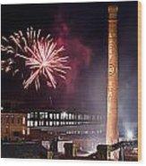 Bull Durham Fireworks Wood Print by Jh Photos