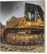 Bulldozer Wood Print