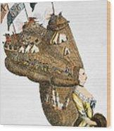 Bunker Hill: Cartoon, 1776 Wood Print