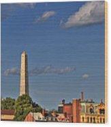 Bunker Hill Monument - Boston Wood Print