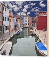 Burano 05 Wood Print by Giorgio Darrigo