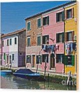 Burano, Venice Wood Print