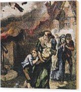 Burning Of Norfolk, 1776 Wood Print