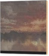 Burnt Sunset Old Wood Print by Holley Jacobs