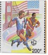 Burundi Stamp Wood Print