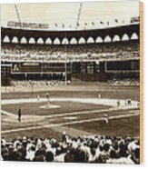 Busch Stadium - St Louis 1966 Wood Print