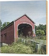 Buskirk Covered Bridge Wood Print