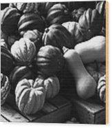 Bw Farm Market Acorn Butternut And Carnival Squash Michigan Usa Wood Print
