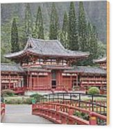 Byodo-in Temple Wood Print