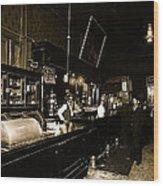 Cabinet Club Saloon 68 W. Congress Tucson Arizona C.1910-2008 Wood Print