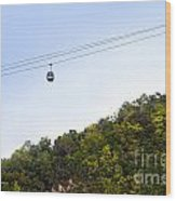 Cable Car Wood Print