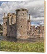 Caerlaverock Castle Wood Print