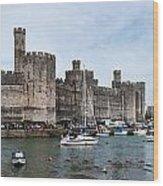 Caernarfon Castle Panorama Wood Print