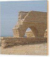 Caesarea Israel Ancient Roman City Port Wood Print
