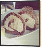 #cake Wood Print