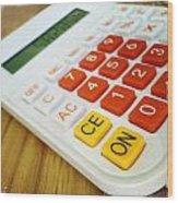 Calculator Wood Print