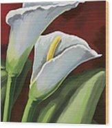 Calla Lilies  Wood Print