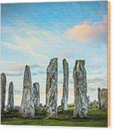 Callanish Standing Stones, Isle Of Lewis Wood Print