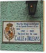 Calle Orleans Wood Print