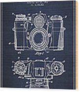 Camera Patent Drawing From 1962 Wood Print by Aged Pixel