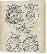 Camera Shutter Patent 1910 - Vintage Wood Print