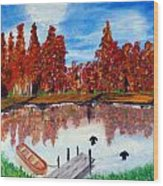 Camp Maple Wood Print