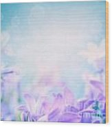 Campanula Floral Background Wood Print