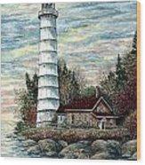 Cana Island Light Wood Print