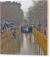 Canal Of Delft Wood Print