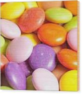 Candy Background Wood Print