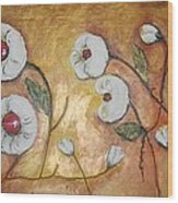 Candy Flowers  Wood Print by Elena  Constantinescu