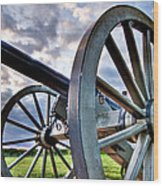 Cannon Over Gettysburg Wood Print by Andres Leon