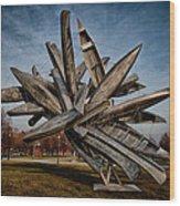 Canoe Sculpture Wood Print