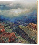 Canyon Clouds Wood Print