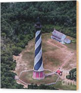 Cape Hatteras Lighthouse From Above Wood Print