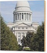 Capitol Building In Little Rock Wood Print