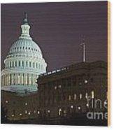 Capitol Building Washington Dc Wood Print