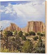Capitol Reef National Park. Catherdal Valley Wood Print