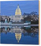 Capitol Reflecting Pool Wood Print