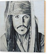 Johny Depp - The Captain Jack Sparrow Wood Print