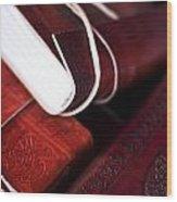 Captains Log Books Wood Print