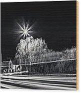 Car Light Trails Wood Print